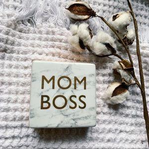 "Office Envy ""Mom Boss"" Ceramic Paper Weight"